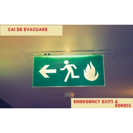CAI DE EVACUARE - Bilingv